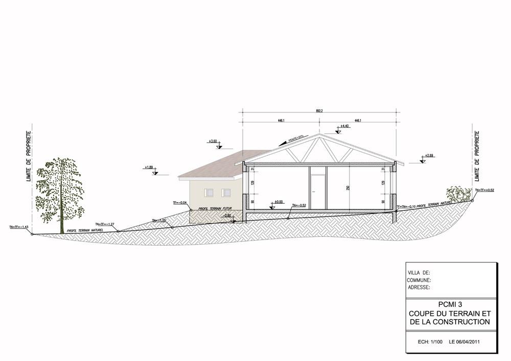 PCMI3 plan de coupe terrain